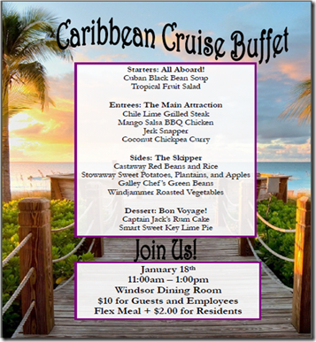 Caribbean Cruise Menu