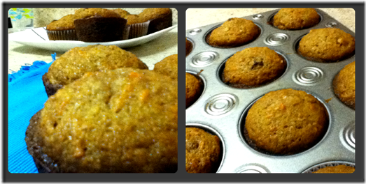 Carrot Muffin Collage