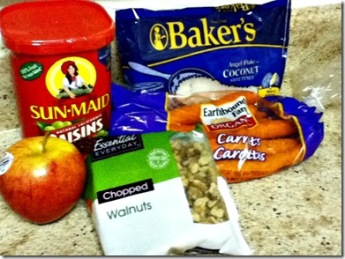 Carrot Muffin Ingredients